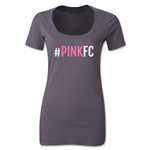 Pink FC Women's Scoopneck T-Shirt (Dark Gray)