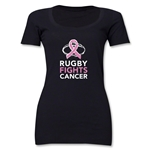Rugby Fights Cancer Women's Scoop Neck T-Shirt (Black)