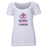 Rugby Fights Cancer Women's Scoop Neck T-Shirt (White)