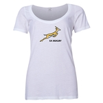 South Africa Springboks Women's Scoop Neck T-Shirt (White)