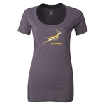 South Africa Springboks Women's Scoop Neck T-Shirt (Dark Gray)
