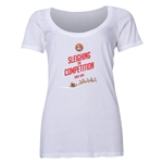FC Santa Claus Sleighing the Competition Women's Scoop Neck T-Shirt (White)