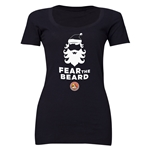 FC Santa Claus Fear the Beard Women's Scoop Neck T-Shirt (Black)