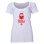 FC Santa Claus Fear the Beard Women's Scoop Neck T-Shirt (White)