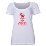 FC Santa Claus Milk and Cookies Women's Scoop Neck T-Shirt (White)