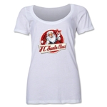 FC Santa Claus Animated Women's Scoop Neck T-Shirt (White)