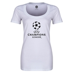 UEFA Champions League Women's Scoopneck T-Shirt (White)
