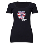 USA Sevens Vegas Rugby Women's Scoop Neck T-Shirt (Black)
