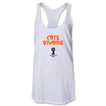 Cote d'Ivoire 2014 FIFA World Cup Brazil(TM) Core Racerback Tank Top (White)