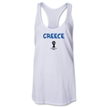 Greece 2014 FIFA World Cup Brazil(TM) Core Racerback Tank Top (White)
