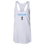 Uruguay 2014 FIFA World Cup Brazil(TM) Core Racerback Tank Top (White)