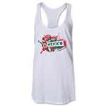 Mexico 2014 FIFA World Cup Brazil(TM) Celebration Racerback Tank Top (White)