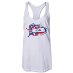 USA 2014 FIFA World Cup Brazil(TM) Celebration Racerback Tank Top (White)
