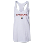 Switzerland FIFA Women's World Cup Canada 2015(TM) Racerback Tank Top (White)