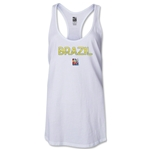 Brazil FIFA Women's World Cup Canada 2015(TM) Racerback Tank Top (White)
