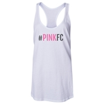 Pink FC Women's Racerback Tank Top (White)