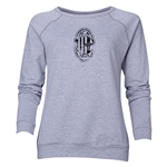 AC Milan Distressed Logo Women's Crewneck Fleece (Gray)