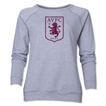 Aston Villa Distressed Women's Crewneck Sweatshirt (Gray)