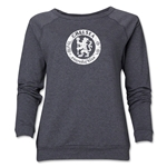 Chelsea Distressed Emblem Women's Crewneck Fleece (Dark Gray)