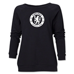 Chelsea Emblem Women's Crewneck Fleece (Black)