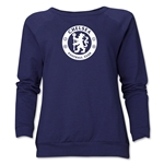Chelsea Emblem Women's Crewneck Fleece (Navy)