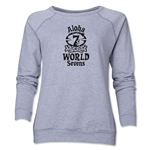 Aloha World Sevens Women's Crewneck Fleece Sweatshirt (Grey)
