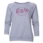 Barcelona Worn Women's Crewneck Fleece (Gray)