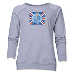 1966 FIFA World Cup Brazil Historical Emblem Women's Crewneck Fleece (Grey)