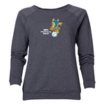 2014 FIFA World Cup Brazil(TM) Women's Official Mascot Crewneck Sweatshirt (Dark Grey)