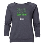 2014 FIFA World Cup Brazil(TM) Women's All in One Rhythm Crewneck Sweatshirt (Dark Grey)