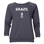 Brazil 2014 FIFA World Cup Brazil(TM) Women's Core Crewneck Sweatshirt (Dark Grey)