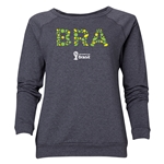 Brazil 2014 FIFA World Cup Brazil(TM) Women's Elements Crewneck Sweatshirt (Dark Grey)