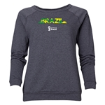 Brazil 2014 FIFA World Cup Brazil(TM) Women's Palm Crewneck Sweatshirt (Dark Grey)