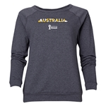 Australia 2014 FIFA World Cup Brazil(TM) Women's Palm Crewneck Sweatshirt (Dark Grey)