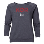 South Korea 2014 FIFA World Cup Brazil(TM) Women's Elements Crewneck Sweatshirt (Dark Grey)