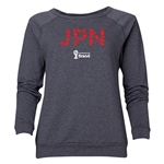 Japan 2014 FIFA World Cup Brazil(TM) Women's Elements Crewneck Sweatshirt (Dark Grey)