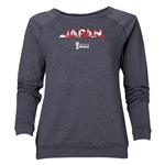 Japan 2014 FIFA World Cup Brazil(TM) Women's Palm Crewneck Sweatshirt (Dark Grey)