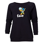 2014 FIFA World Cup Brazil(TM) Women's Official Mascot Crewneck Sweatshirt (Black)