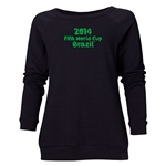 2014 FIFA World Cup Brazil(TM) Women's Official Logotype Crewneck Sweatshirt (Black)