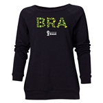 Brazil 2014 FIFA World Cup Brazil(TM) Women's Elements Crewneck Sweatshirt (Black)
