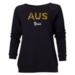 Australia 2014 FIFA World Cup Brazil(TM) Women's Elements Crewneck Sweatshirt (Black)