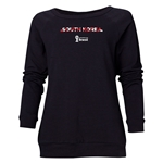 South Korea 2014 FIFA World Cup Brazil(TM) Women's Palm Crewneck Sweatshirt (Black)