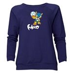 2014 FIFA World Cup Brazil(TM) Women's Official Mascot Crewneck Sweatshirt (Navy)