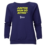 2014 FIFA World Cup Brazil(TM) Women's All in One Rhythm Portuguese Crewneck Sweatshirt (Navy)