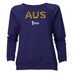 Australia 2014 FIFA World Cup Brazil(TM) Women's Elements Crewneck Sweatshirt (Navy)
