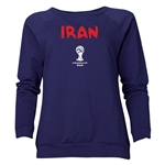 Iran 2014 FIFA World Cup Brazil(TM) Women's Core Crewneck Sweatshirt (Navy)