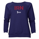 Iran 2014 FIFA World Cup Brazil(TM) Women's Elements Crewneck Sweatshirt (Navy)