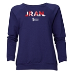 Iran 2014 FIFA World Cup Brazil(TM) Women's Palm Crewneck Sweatshirt (Navy)