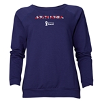 South Korea 2014 FIFA World Cup Brazil(TM) Women's Palm Crewneck Sweatshirt (Navy)