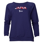 Japan 2014 FIFA World Cup Brazil(TM) Women's Palm Crewneck Sweatshirt (Navy)